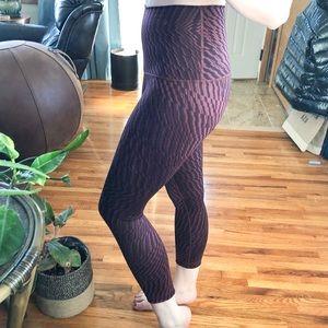 NWOT lululemon purple crop leggings